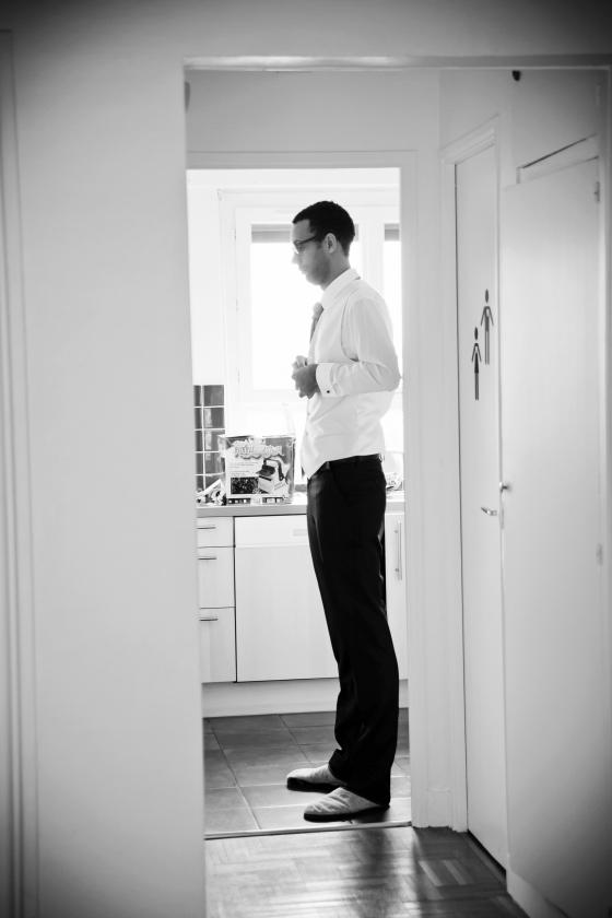J'aime beaucoup l'idée du marié en chaussons!